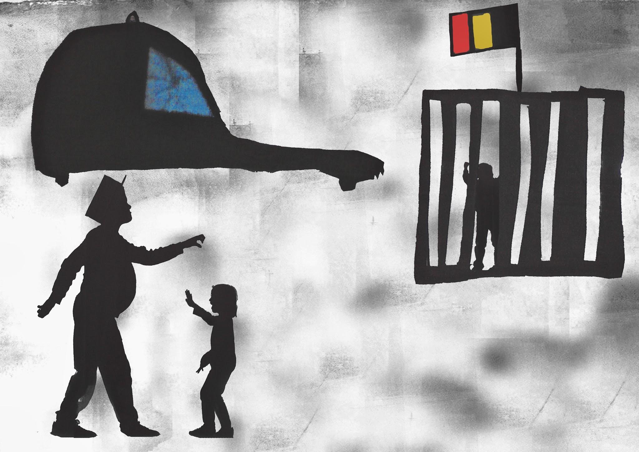 J'ai peur de la police belge si je ne suis pas sage ils vont me mettre en cage...