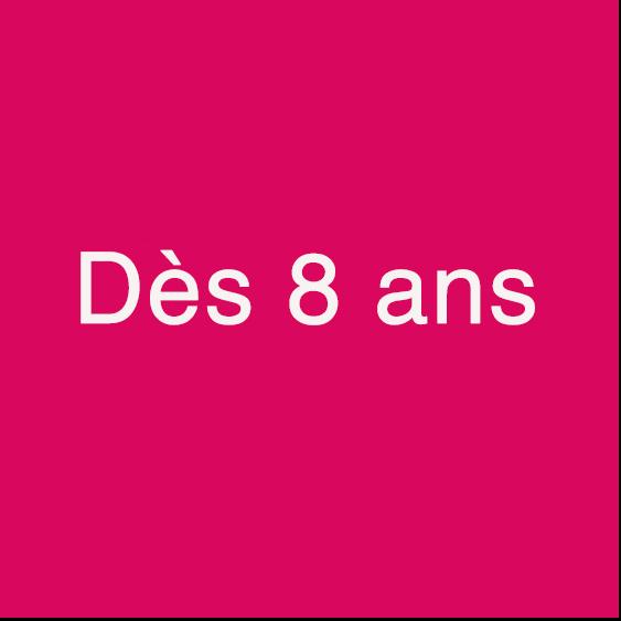 Logo spectacle à partir de 8 ans
